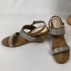 NINA Wedge Sandals - Size 8